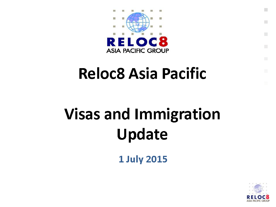 Visa and Immigration Briefing - Critical issues and recent changes Ikan Milestones