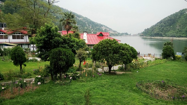 nainital lake with boats